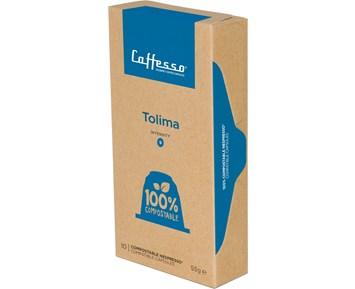 Caffesso Tolima espresso compostable capsules