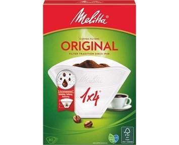 Melitta Kaffefilter 1×4 80-pack