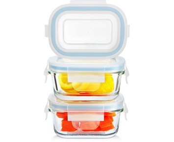 Andersson Mini rectangle glass food container 120 ml 3pcs