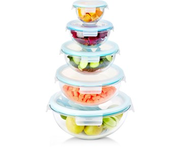 Andersson Salad Bowl set in glass 5 pcs