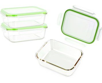 Matlådor i glas 3 st 0,37L