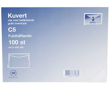 Bong Kuvert C5 100-p