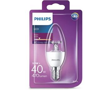 Philips Led (5.5W) 40W E14 kron