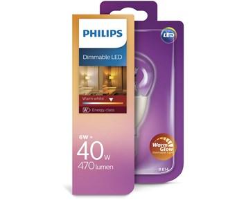 Philips Led klot (6W) 40W E14 warmglow