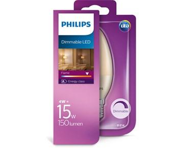 Philips Led Flame 15W B38 E14 kron