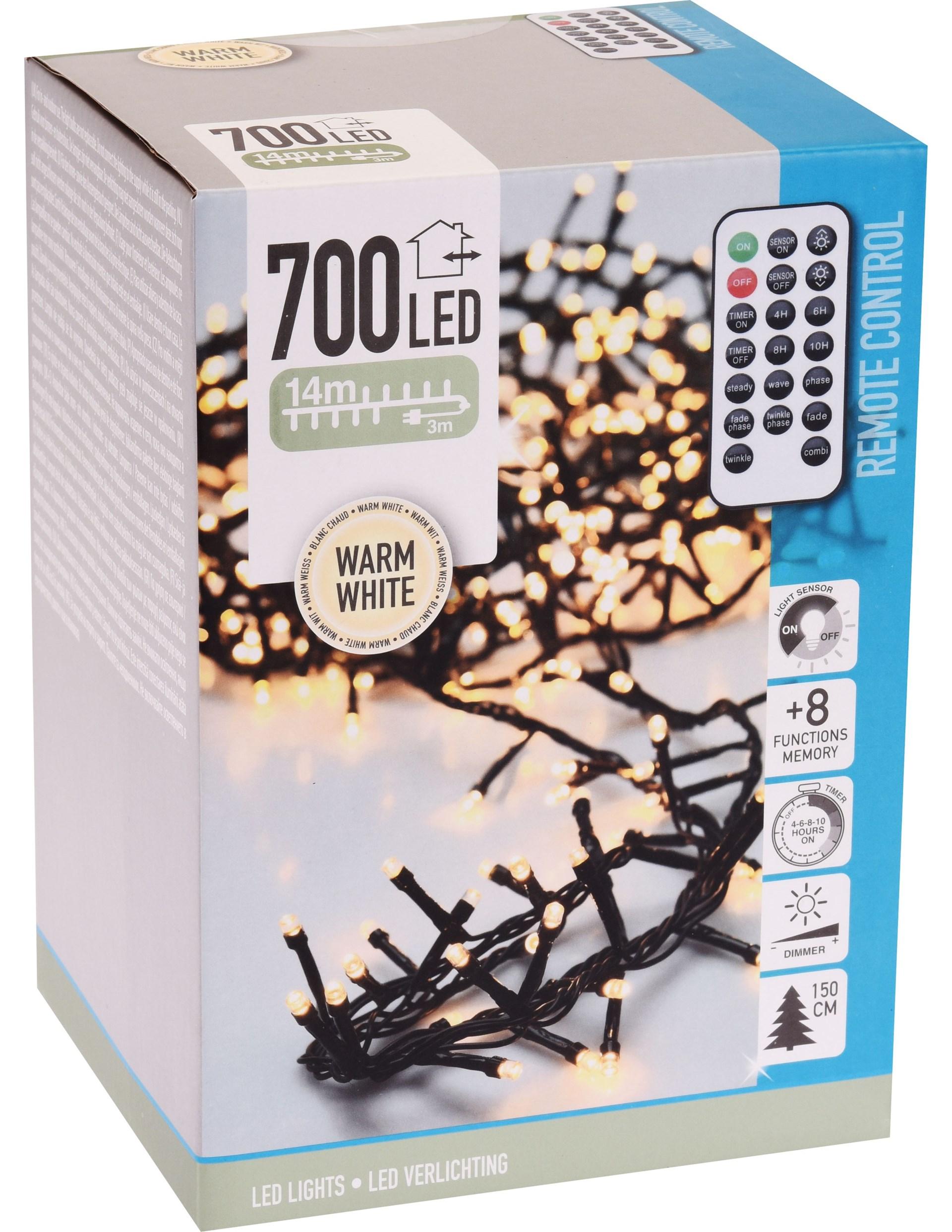 Toppen MicroCluster 700 LED Warm White - Dekorativ 14 m lång kluster-LED GA-45