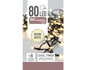Others Led lights 80 warm white dual timer