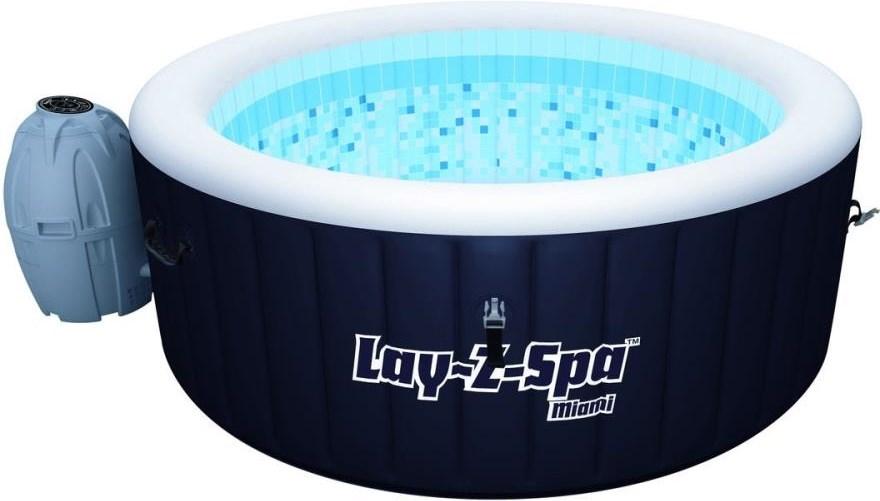 Nya Miami Lay-Z-Spa - Uppblåsbar bubbelpool för upp till fyra personer NU-95