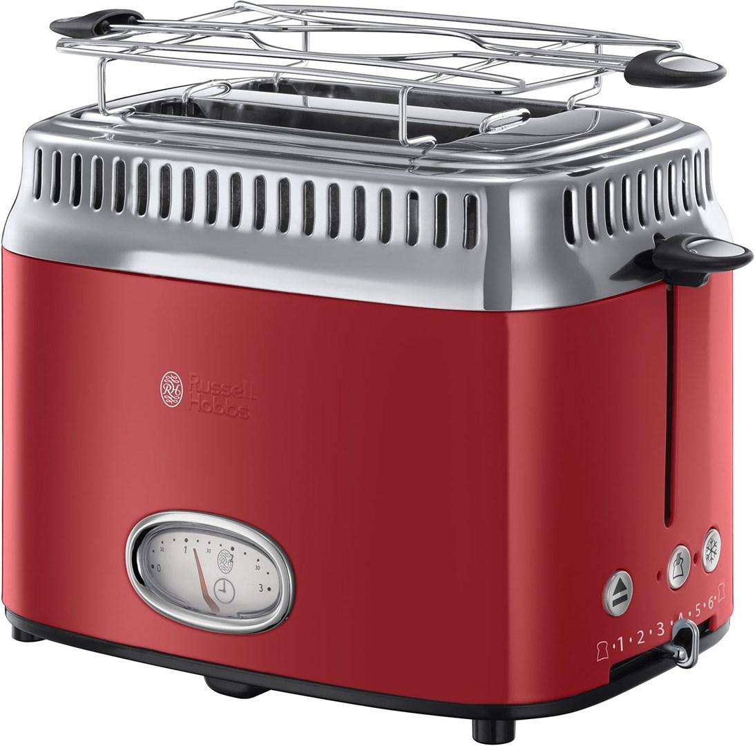 russell hobbs retro 2 slice toaster ribbon r retrodesignad br drost med nedr kningsm tare. Black Bedroom Furniture Sets. Home Design Ideas