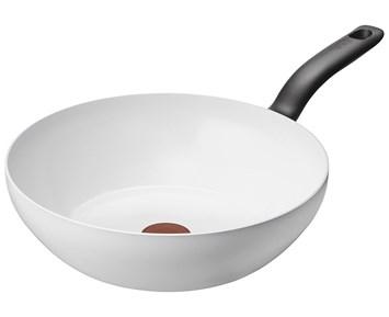 Tefal Ceramic Control White Wok 28cm