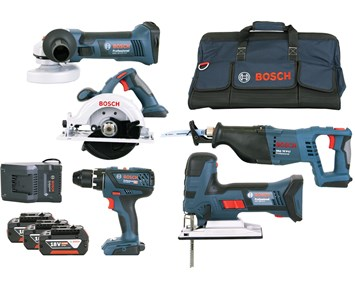 Bosch Bosch Verktygspaket 18V GSR/GST/GWS/GKS/GSA (3x4,0Ah)