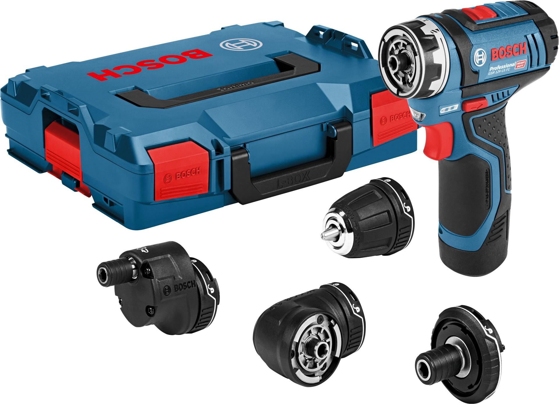 Bosch Professional GSR 12V-15 FC FlexiClick Professional inkl acces. -  Kompakt 12 V borrskruvdragare inkl stort tillbehörspaket db3abfbc71b9d