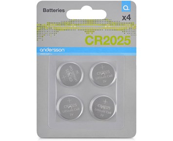 Andersson CR2025 battery 4pcs