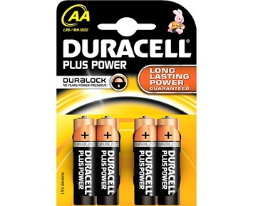 Duracell AA Plus 4-pack