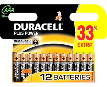 Duracell AAA Plus 12-pack