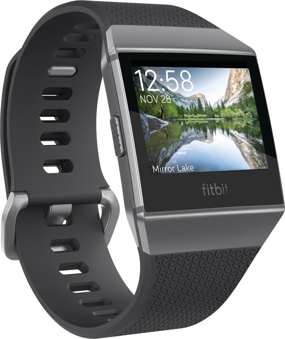 Fitbit IONIC Water Resistant Fitness GPS Smart Watch-Charcoal/&Smoke Grey Case