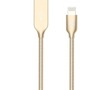 Andersson Lightning Cable 1,5 m Metal Gold 2.4A