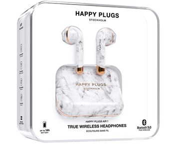 Happy Plugs Air1 Limited Edition - White Marble