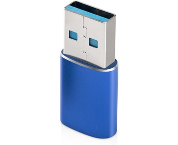 Andersson USB-A to USB-C adapter 3A, 60W - Blue