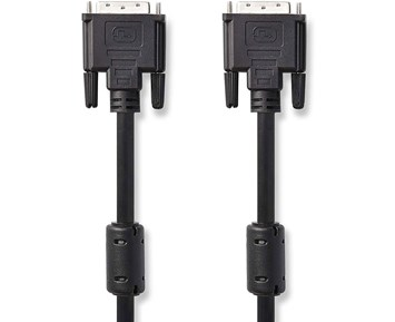 Nedis DVI-kabel DVI-D 24+1-stift hane – DVI-D 24+1-stift hane 2 m Svart