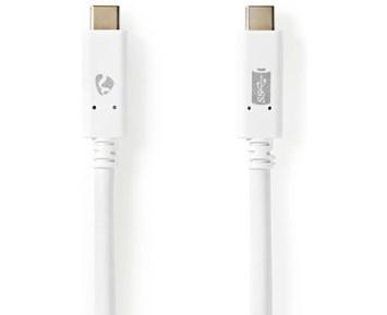 Nedis USB 3.1 Cable USB-C – USB-C 2.0 m White
