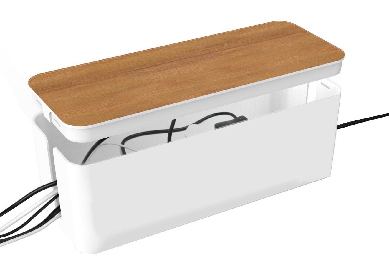 Splitter nya Andersson Cable box wood - Större kabelgömma med trälock för QK-55
