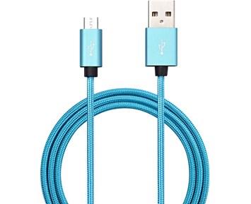 Andersson Micro-USB Metallic 1m Turquois