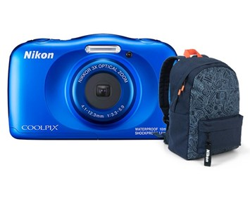 Nikon Coolpix W150 - Blue Backpack Kit Tough
