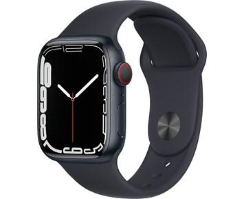 Apple  Watch Series 7 GPS, 41mm Midnight Aluminium Case with Midnight Sport Band - Regular