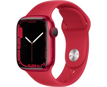 Apple  Watch Series 7 GPS, 41mm (PRODUCT)RED Aluminium Case with (PRODUCT)RED Sport Band - Regular