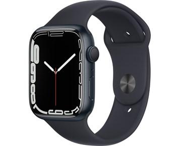 Apple  Watch Series 7 GPS, 45mm Midnight Aluminium Case with Midnight Sport Band - Regular