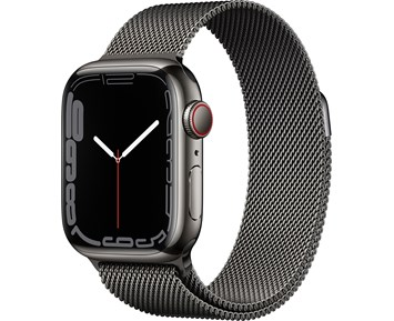 Apple  Watch Series 7 GPS + Cellular, 41mm Graphite Stainless Steel Case with Graphite Milanese Loop