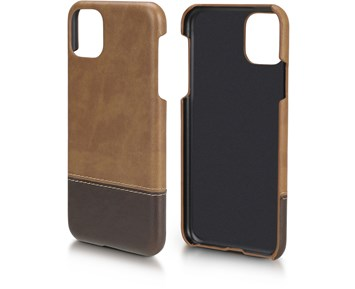 Andersson PU Leather Case Light brown/Dark brown for Apple iPhone 11