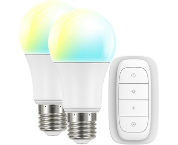 Smartline The Warm & Cool Light Kit. 2xLED E27 CCT/TW, 1xRemote