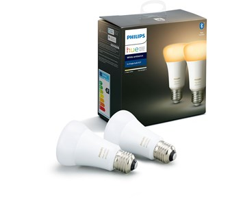 Philips Hue Bulbs A60 E27 2pack White Ambiance