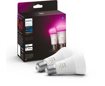 Philips Hue Bulbs A60 E27 2-set White/Color Ambiance