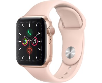 Apple Apple Watch Series 5 GPS, 40mm Gold Aluminium Case with Pink Sand Sport Band