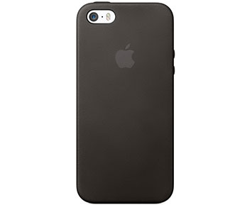Apple iPhone 5S Leather Case Black