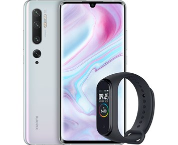 Xiaomi Mi Note 10 6+128GB Glacier White incl. Mi Band 4