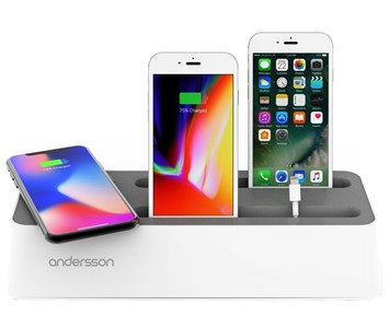 Andersson Charging station QI 5W + 4xUSB-A