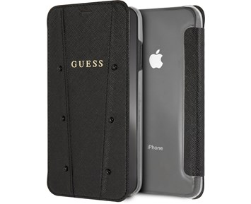 GUESS PU Booktype Black For Apple iPhone Xs Max