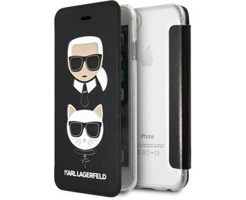 Karl Lagerfeld Booktype Embossed Black For Apple iPhone 11