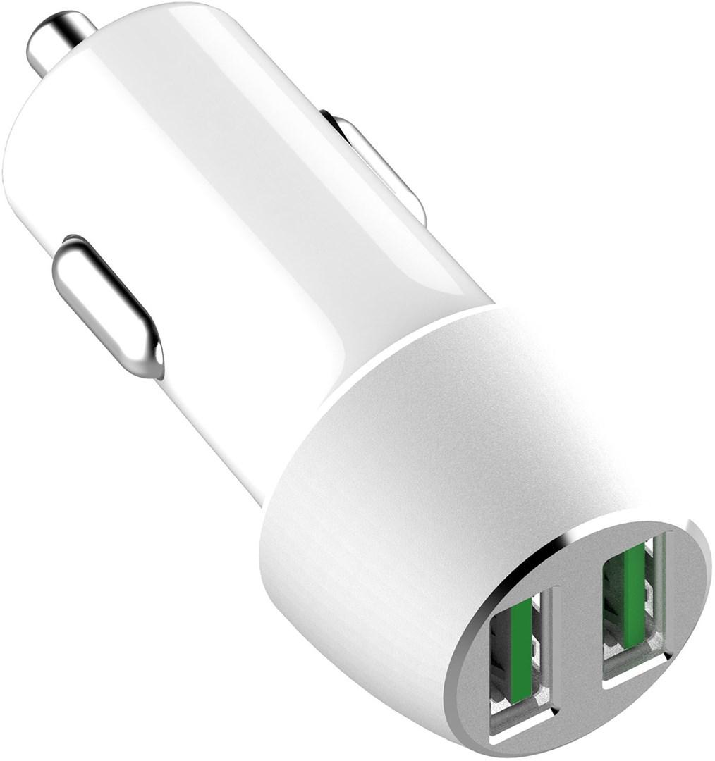 Billaddare med dubbla USB portar för snabbladdning