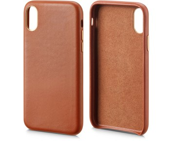 Andersson Genuine Leather Case Brown for Apple iPhone X/XS