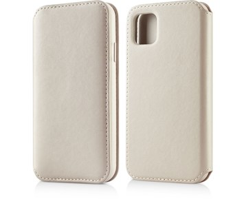 Andersson Leather Flip Wallet Stone Beige for Apple iPhone 11