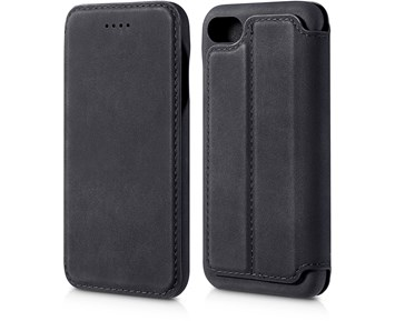 Andersson Premium Flip Wallet Case Black for Apple iPhone 6/6S