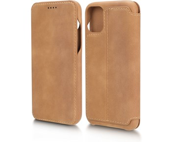 Andersson Premium Flip Wallet Case Brown for Apple iPhone 11