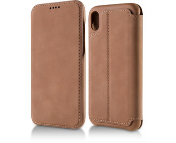 Andersson Premium Flip Wallet Case Brown for Apple iPhone X/XS