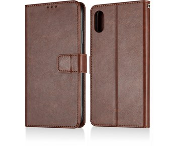 Andersson Premium Wallet Case Brown for Apple iPhone XR