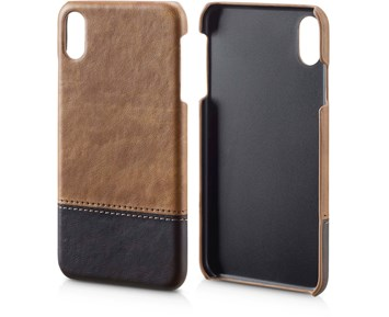 Andersson PU Leather Case Light brown/Dark brown for Apple iPhone XS Max